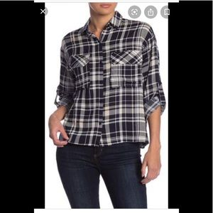 Lush Pllaid Boyfriend Shirt